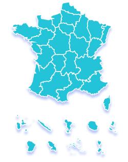 Carte de France cliquable indiquant les manifestations Fête de la science