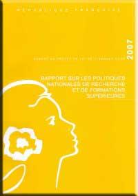 Couverture du rapport de projet de loi de finance 2007
