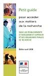 Couverture brochure Métiers 2008