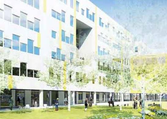 Projet construction Paris 4 Sorbonne : espace vert protégé