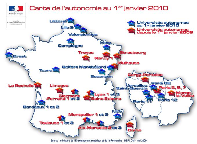 Carte autonomie 2010