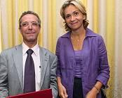 Valérie Pécresse et Georges Molinié Président de Paris IV)
