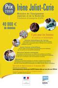 Les lauréates du Prix Irène JoliotCurie 2009