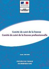 Comité de suivi de la licence - synthèsee des travaux