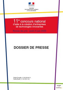Vignette dossier de presse concours 2009