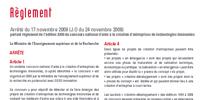 Règlement 2009