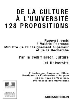 De la culture à l'université : 128 propositions