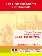Les aides financières aux étudiants