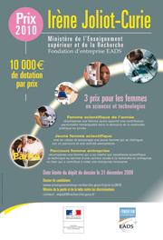 Télécharger l'affiche Prix Irène Joliot-Curie 2010