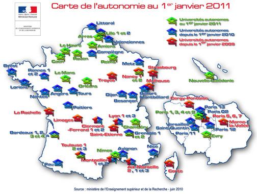 Carte autonomie 2011