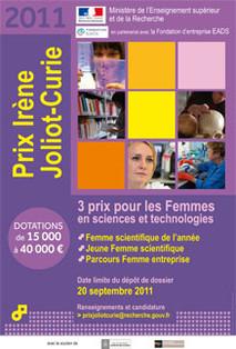 Télécharger l'affiche du prix Irène Joliot-Curie 2011