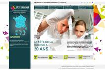 Page d'accueil du site Fête de la science