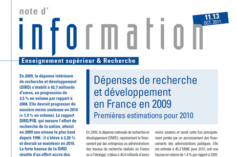 Note d'information n° 11.13