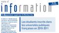 Les étudiants inscrits dans les universités publiques françaises en 2010-2011