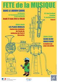 Affiche : Fête de la musique 2012 au M.E.S.R.