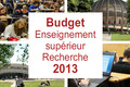 Budget 2013 : + 2,2% pour l'enseignement supérieur et la recherche