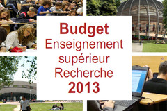 Budget Enseignement supérieur et Recherche 2013