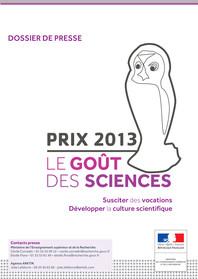 Dossier de presse Le goût des sciences 2013