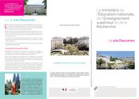 Plaquette de présentation du site Descartes