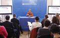 Geneviève Fioraso présente les résultats de l'appel à projets PEPITE