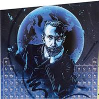 Street art: Mendeleïev et le tableau périodique des éléments, par Christian Guémy