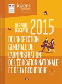 Rapport d'activité 2015 de l'IGAENR