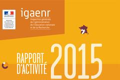 Rapport d'activité de l'IGAENR 2015