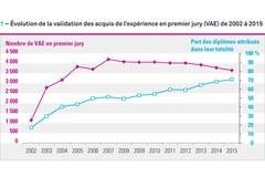 VAE dans les établissements d'enseignement sup : la baisse se poursuit en 2015
