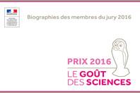 Jury Le goût des sciences 2016