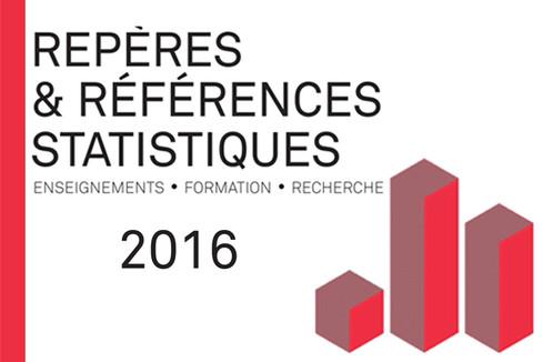Repères et références statistiques - Edition août 2016