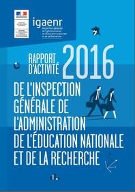 Rapport d'activité IGAENR 2016 - Couverture