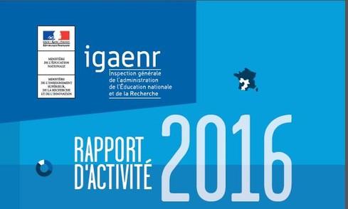Rapport d'activité 2016 de l'I.G.A.E.N.R