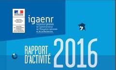 Rapport d'activité IGAENR 2016 - Vignette