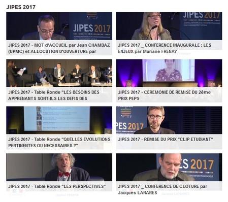 Journées JIPES 2017 en vidéo