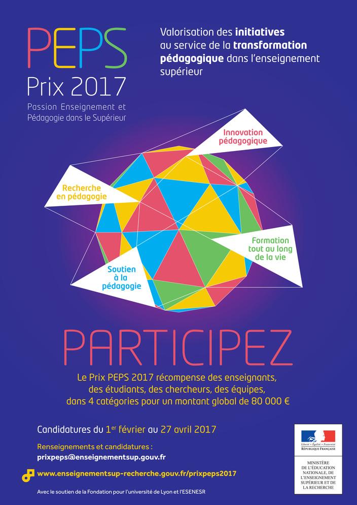 Affiche A3 Prix PEPS 2017