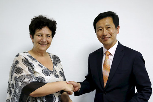 Frédérique Vidal rencontre son homologue singapourien, Ong Ye Kung