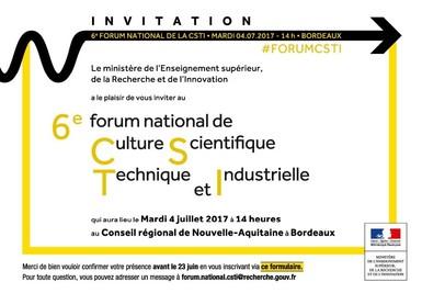 Invitation Forum CSTI 2017