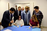 Visite de Frédérique Vidal et Hélène David au département de simulaton en santé