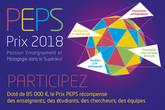 """Prix PEPS """"Passion Enseignement et Pédagogie dans le Supérieur"""" 2018"""