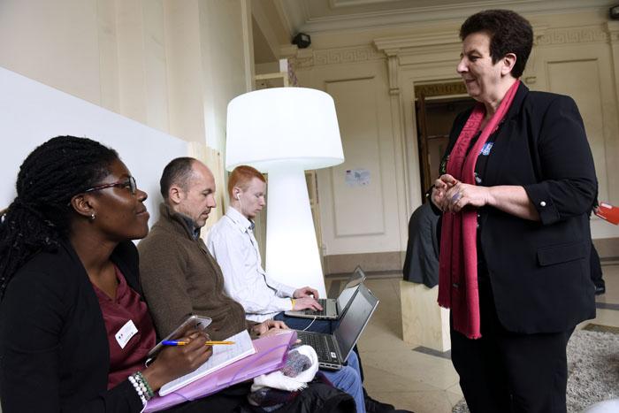 Frédérique Vidal rencontre les jeunes diplômés à la journée des Rendez-vous de l'Emploi 2018