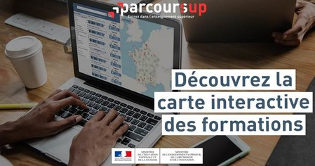 Carte interractive Parcoursup