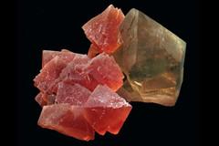 fluorite et quartz fumé