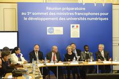 Réunion préparatoire au sommet des ministres francophones sur le numérique