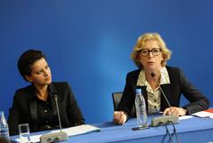 Najat Vallaud-Belkacem et Geneviève Fioraso