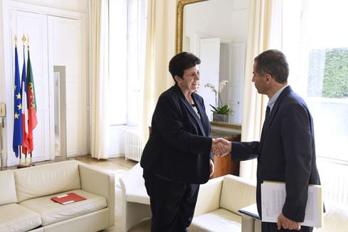 Rencontre de Frédérique Vidal avec son homologue portugais, Manuel Heitor