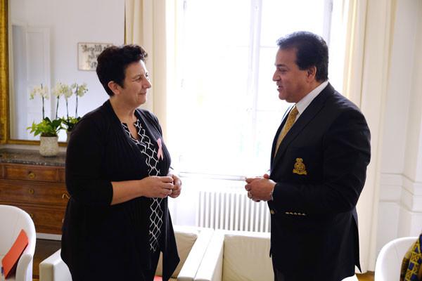 Rencontre avec le ministre égyptien de l'E.S.R.