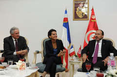 Déplacement de Najat Vallaud-Belkacem en Tunisie