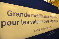 Grande mobilisation de l'Ecole pour les valeurs de la République