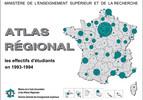 Atlas régional : les effectifs d'étudiants en 1993-1994