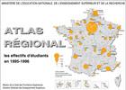 Atlas régional : les effectifs d'étudiants en 1995-1996